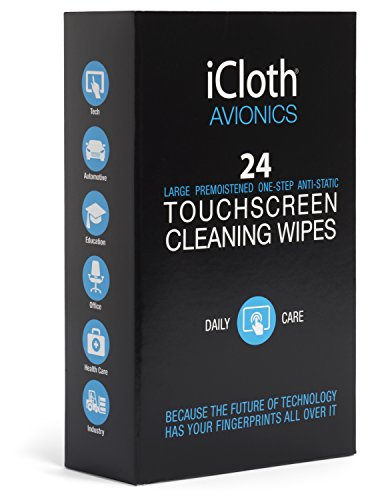 iCloth Avionics Screen Cleaning Wipes for a like-new shine on larger or multiple displays [iCA24] 24 wipe pack – Protect the optical clarity and response capacity of all your sensitive surfaces