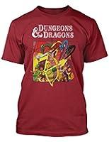 Dungeons & Dragons Retro Cartoon TV style t-shirt Cardinal Red
