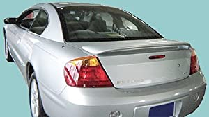 Volvo S80 Rear Spoiler 1999 2000 2001 2002 2003 2004 2005 2006 2007 - Ghost Style - Painted - 614 Ice White/Iced White
