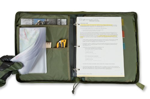 Tactical 3-Ring Binder Cover, Large, Zippered Military Field Admin Case (Multicam) (Binder Cover compare prices)