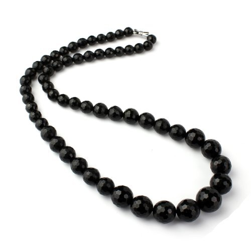 O-stone Natural Black Tourmaline Silent Power Family Beads Collection Necklace Bracelet Grounding Stone Protection 7mm-13mm