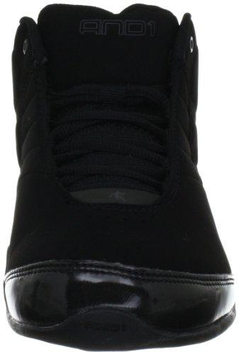 pictures of AND 1 Men's Rocket 3.0 Mid Basketball Shoe, Black/Black,11.5 M US/10.5 M UK