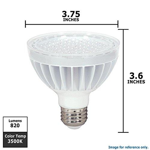 Satco S9017 13 Watt (75 Watt) 820 Lumens Par30 Short Neck Led Neutral White 3500K 40 Beam Kolourone Duo Light Bulb, Outdoor