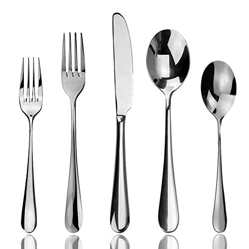 Aoo 5 pieces Stainless Steel Flatware Set for Home Restaurant Hotel (Modern Flatware Stainless Steel compare prices)