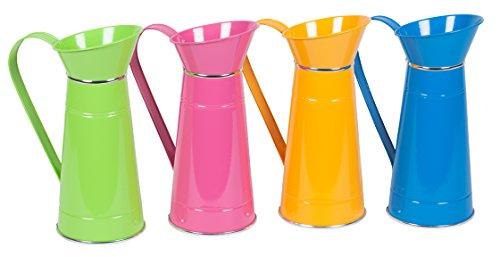 Colori vivaci-Caraffa per latte con motivo floreale a forma di urna da giardino per vasi da piante