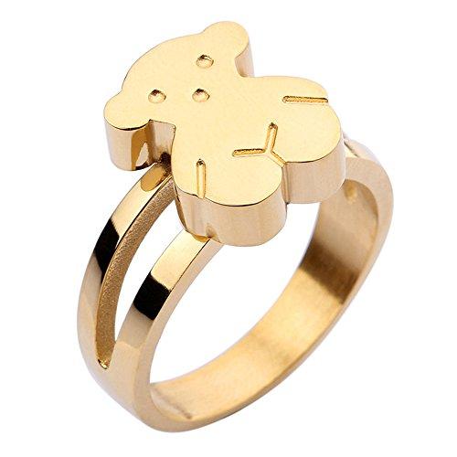 mujer-linda-sencillo-acero-inoxidable-oso-anillo-oro