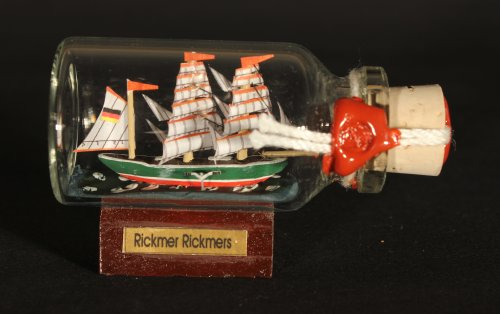 Rickmer Rickmers Mini Buddelschiff
