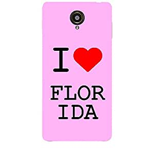 Skin4gadgets I love Florida Colour - White Phone Skin for SLATE 6 VOICE TAB