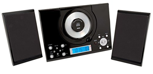 sylvania srcd114 vertical cd micro system alarm clock with. Black Bedroom Furniture Sets. Home Design Ideas