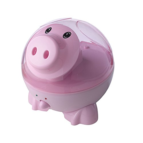 Drive Medical Ultrasonic Cool Mist Puddles The Pig Pediatric Humidifier, Pink