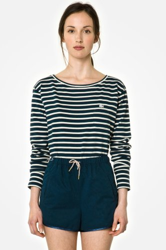 L!VE Long Sleeve Crewneck Striped T-shirt