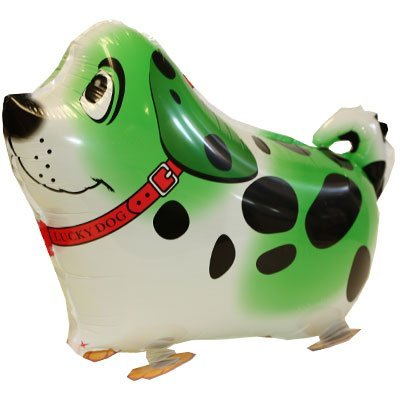 GREEN PUPPY DOG Walking Pet Balloon