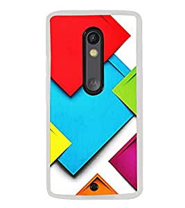 Colourful Pattern 2D Hard Polycarbonate Designer Back Case Cover for Motorola Moto X Style :: Moto X Pure Edition