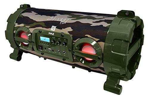 Pyle Street Blaster Wireless Bluetooth Boom Box Speaker, Built-in Rechargeable Battery, MP3