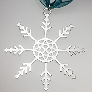 Snowflake Ornament with Ribbon