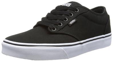 Vans Atwood Herren Sneakers, Schwarz (Blk/Wht 187), Gr. 38.5 EU / 5.5 UK
