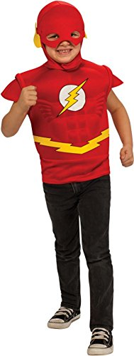 The Flash Muscle Shirt With Mask Child Costume