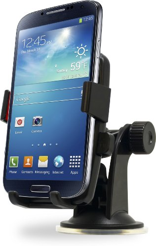 Aduro U-GRIP TOUCH Universal Dashboard Windshield Car Mount for Smart Phones, Apple iPhone 5 / 5S / 5C / 4 / 4S / 3G, Samsung Galaxy S2 / S3 / S4, Motorola Droid RAZR / MAXX, HTC EVO 4G, HTC One X, LG
