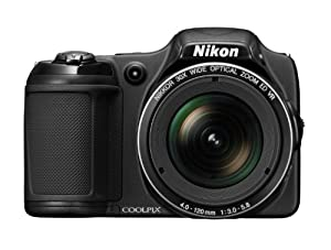 Nikon COOLPIX 26402B L820 16 MP CMOS Digital Camera with 30x Zoom Lens and Full HD 1080p Video, Black (Refurbished)