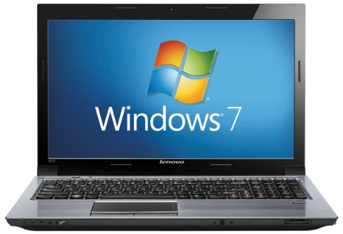 Lenovo V570 15.6 inch Laptop (Core i3-2310M, RAM 2GB, HDD 320GB, DVDRW, Windows 7 Professional 64-Bit) - Metal