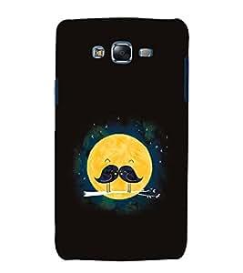 Vizagbeats Sparrow Pair Fullmoon Moonstache Black Back Case Cover for Samsung Galaxy A5