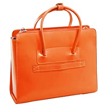 McKleinUSA LAKE FOREST 94330 Orange Leather Women's Case w/ Removable Sleeve