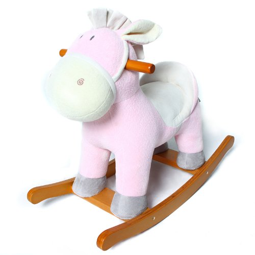 Hessie 1-3 Years Kids Rocking Horse - Pink Donkey front-237537