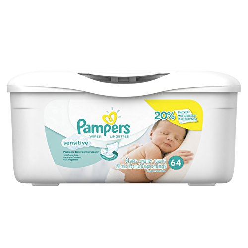 Pampers Sensitive Wipes Tub, 64 Count - 1