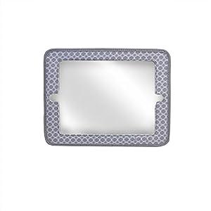 JJ Cole 2-In-1 Mirror, Gray Circle