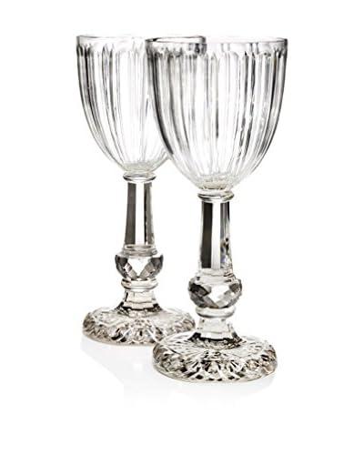 Go Home Set of 2 Elegant Candleholders, Clear