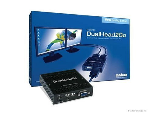 Matrox DualHead2Go Analogue Edition Graphics eXpansion Module (In: 1 VGA, Out: 2 VGA, 1 GPU)