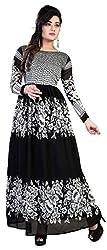 Anbazaar Black Georgette Gown