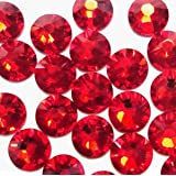 NEW ThreadNanny CZECH Quality 10gross (1440pcs) HotFix Rhinestones Crystals - 5mm/20ss, RED Color (Color: Clear / Crystal)