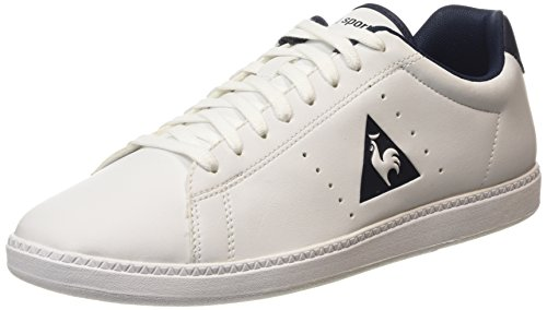 Le Coq Sportif Courtone S Lea - Sneaker Uomo , Bianco (Blanc (Optical White/Dress Blue)), 41