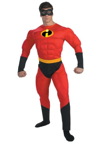 Disguise Mens Disney Mr Incredible Muscle Party Fancy Costume
