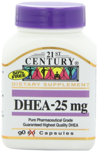 21St Century Dhea 25 Mg Capsules, 90-Count (Pack Of 2)