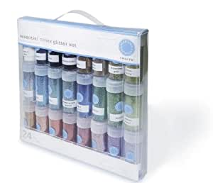 Martha Stewart Crafts Essential Colors Glitter Set, 24-Pack