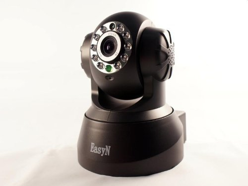 Wireless/Wired Ip Pan/Tilt/Night Vision Internet Surveillance Camera Built-In Microphone,Two-Way Audio