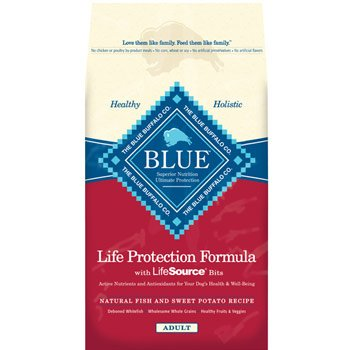 Blue Buffalo Dry Dog Food, Fish and Sweet Potato Recipe, 30-Pound Bag