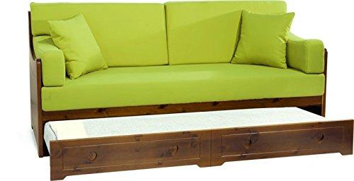 Divano letto rustico san candido finitura naturale for Offerte divani letto