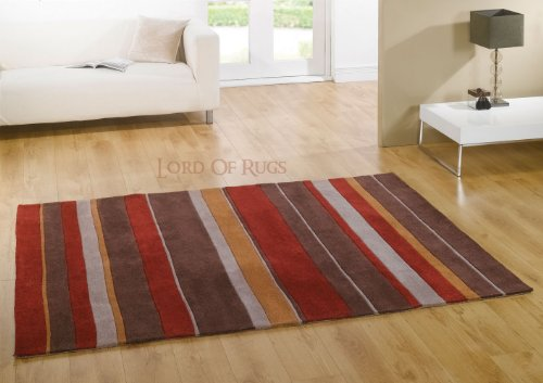 Large New Collection Designer Heavy Quality Rug Red  &  Brown Colour Carpet 160 x 220 cm (5'3