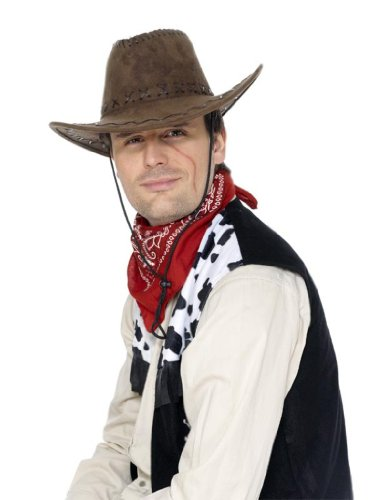 Suede Look Cowboy Hat Costume Accessory