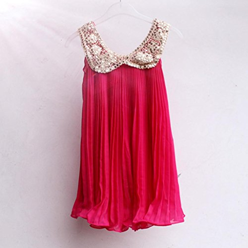 Sequin Mesh Bodice Special Occasion Dress Infant Little Girl Hot Pink 90Cm front-1063593
