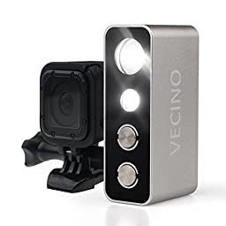 activeallbrite VECINO Action Video Light for GoPro Hero 5, 4, 3+ and 3 Cameras, Underwater Diving GoPro LED Light, 600 Lumens, Waterproof up to 60m, Rechargeable