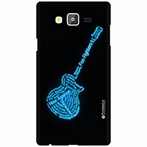 Printland Designer Back Cover for Samsung Galaxy On7 - Blue Guitar Case Cover