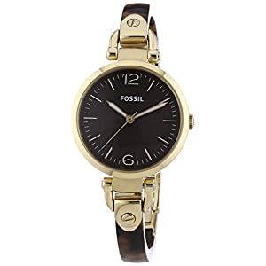 Fossil Georgia Three Hand Resin Watch - Tort Es3295