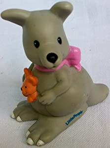 Fisher Price Little People Kangaroo Baby Joey in Pouch Replacement Figure Doll Toy