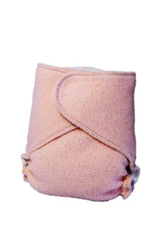 Kissaluvs Cotton Fleece Hybrid One Size Contour Diaper, Orange front-242517