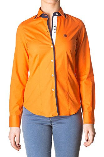 di-prego-chemise-orange-manches-longues-avec-welt-col-et-poignets-poignets-reversibles-bleu-marine-a