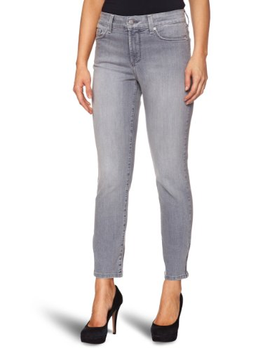 NYDJ Women's Silver Skinny Jeans Silver Rush Size 10